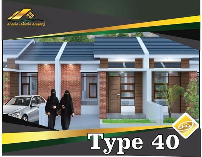 rumah syariah modern type 40