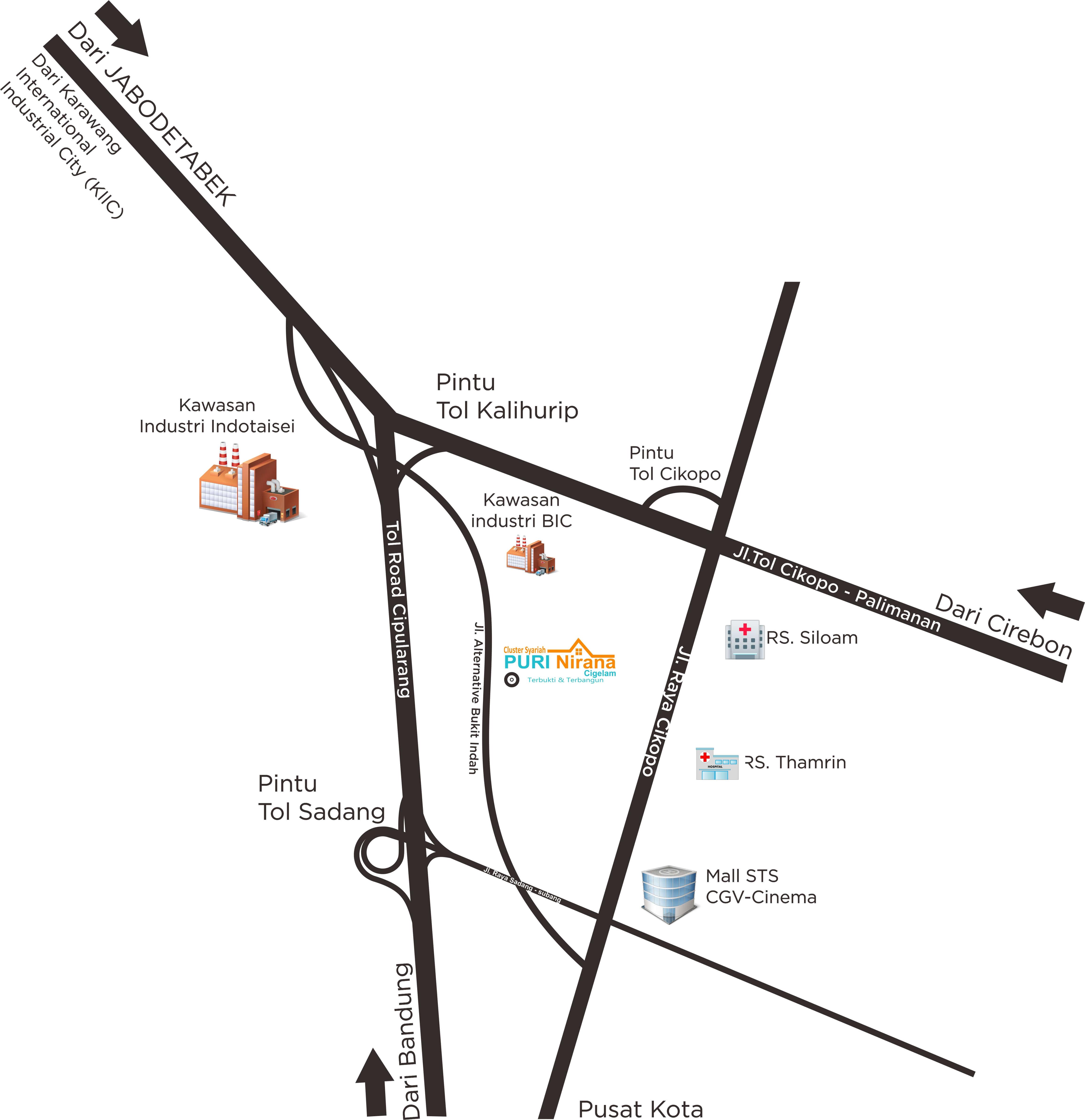 Peta Lokasi Puri Nirana Cigelam