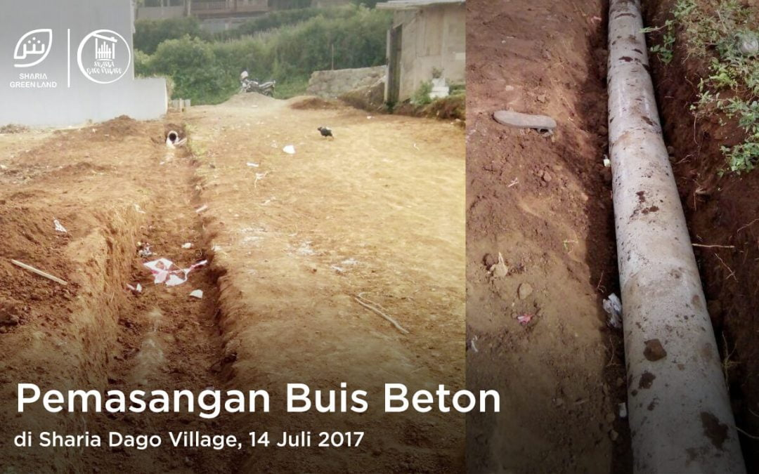 pemasangan buis beton di sharia dago village