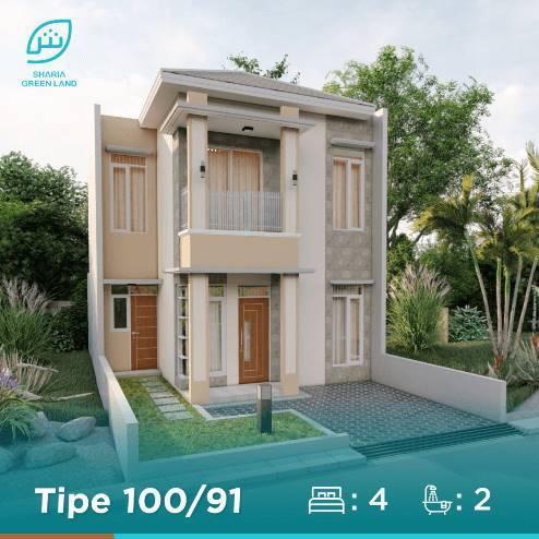 Puri Nirana Cigelam rumah tipe 75, perumahan syariah purwakarta, satu proyek Sharia Green land, developer properti syariah