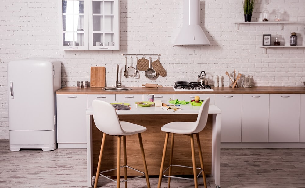 Ruang Makan Bersatu dengan Dapur