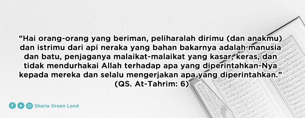 Suami adalah pemimpin dalam keluarga Surat At Tahrim 6