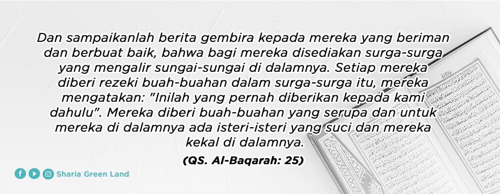 ayat Masuk Surga Bersama Keluarga Al Baqarah 25
