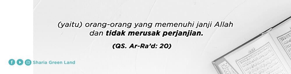 ayat Masuk Surga Bersama Keluarga Ar-Rad 20 -2