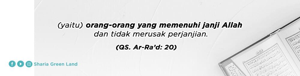 ayat Masuk Surga Bersama Keluarga Ar-Rad 20