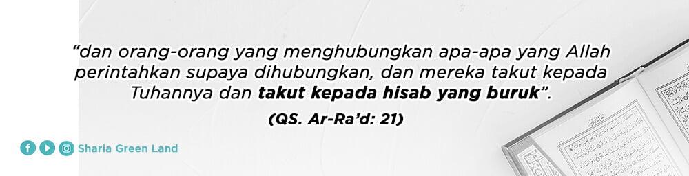 ayat Masuk Surga Bersama Keluarga Ar-Rad  21