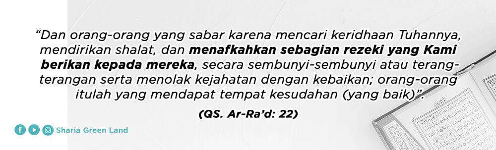 ayat Masuk Surga Bersama Keluarga Ar-Rad  22
