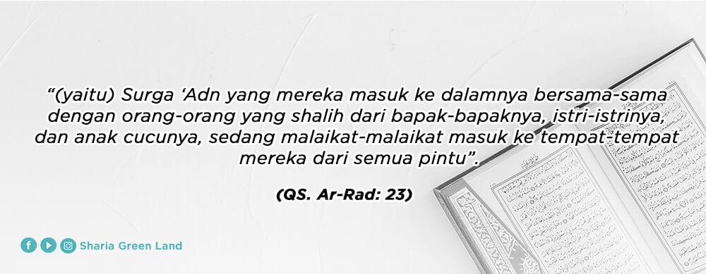 ayat Masuk Surga Bersama Keluarga Ar-Rad 23