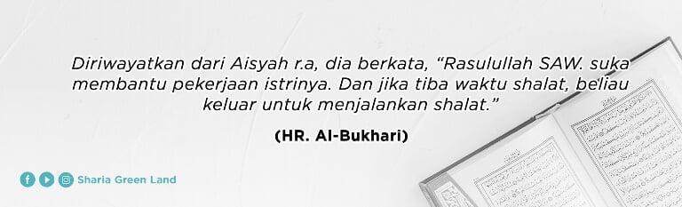 HR. Al-Bukhari tentang membahagiakan istri
