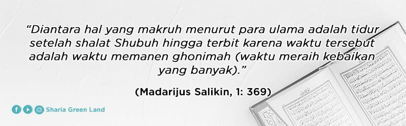 Jangan Langsung Tidur Setelah Sahur (Madarijus Salikin, 369)