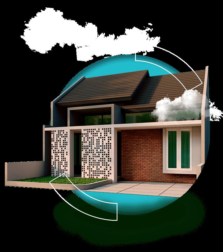 rumah tipe 50 di Sukamanah Islamic Village 750px